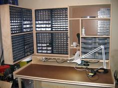 I'm doing something similar with my parts drawers and a couple more IKEA bookcases.