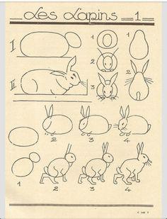 Hay muchas formas de dibujar conejos
