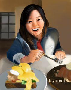 #portrait #digitaldrawing #digitalillustration #art #artist #artwork #artistsoninstagram #foodillustration Digital Collage, Digital Art, Food Illustrations, Digital Illustration, Things To Come, Photo And Video, Artwork, Instagram, Work Of Art