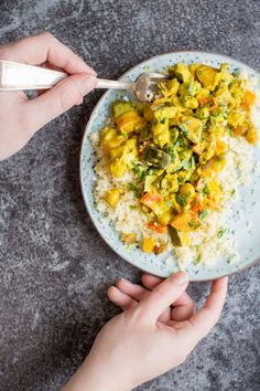This vegetable curry is packed with earthy flavour from the rich, turmeric coconut sauce and all the wonderful vegetables included. It's a super easy, quick vegan meal to throw together!