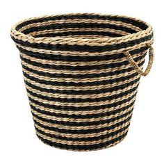"The Hunt For Big Affordable Baskets: IKEA Maffens basket, 14 5/8"" x 17 3/4"", $18.99"