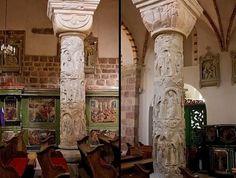 kolumny z kościoła norbertanek w strzelnie, XIII w.