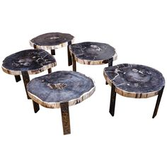 Petrified Wood Table round 39 x 31 Holbrook AZ I want this