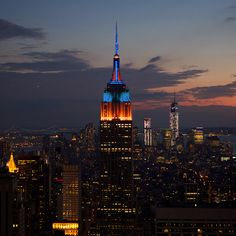 November 12, 2013: Tonight, we're lighting up in blue, orange & red in honor of @CatalogForGiving NYC and its 18th Annual #UrbanHeroes Award Benefit, which recognizes start-ups that improve the lives of at-risk youth.