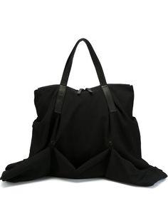 Compre Yohji Yamamoto Bolsa tote de couro e lã em Degli Effetti Women from  the world s 418845d72a813