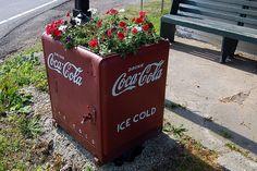 coca cola planter