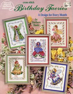 Cross Stitch Birthday Faeiries, A New Design for Every Month of The Year, American School of Needlework 3651 by OnceUponAnHeirloom on Etsy
