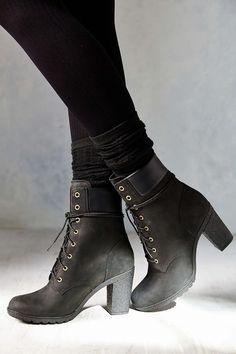 black timberland boot heels