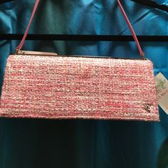 Putu J. MaClear pink tweed bag Brand New With Tags.  Please feel free to make an offer.  I will not negotiate price in the comments, please use the offer button. Putu by J. MaClear Bags Mini Bags