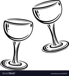 Wine glasses vector image on VectorStock Single Image, Design Elements, Adobe Illustrator, Web Design, Pdf, Wine, Glasses, Illustration, Party