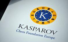 Logo voor de Kasparov Chess Foundation Europe #KCFE