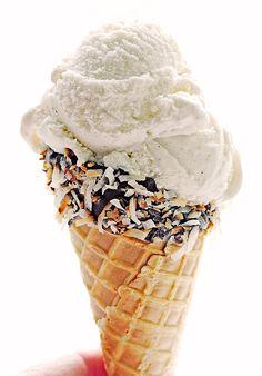 Chocolate & Coconut Dipped Ice Cream Cones