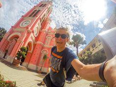 Ill never forget the first time I saw Tanh Dinh Church the colours were too vibrant to believe  #vietnam #GoPro @gopro . . . . . #GoProUK #goprokarma #gpotd #HERO5 #hero6 #TheMoment #theglobewanderer #saigon #hcmc #hochiminhcity #traveller #traveler #beautifuldestinations #awesomelife #backpackerlife #backpacking #southeastasia #pinkchurch #pink #awesomelifestyle #architecture #dopeshotbro #doyaeven #goproguy #longhair #vietnamtourism #vietnamese #tourist