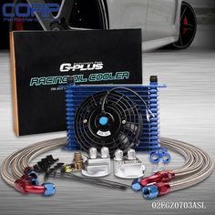 93.35$  Watch now - http://ali4r8.worldwells.pw/go.php?t=32716054476 - 15Row 10AN Universal Engine Oil Cooler + Filter Relocation Kit + Electric Fan BL 93.35$