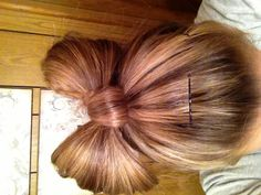 Awesome! Just made my hair into a bow!