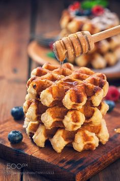 Freshly baked waffles by K2PhotoStudio