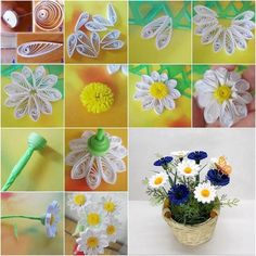 A Tutorial for fashioning quilled Daisies - Unknown Quiller