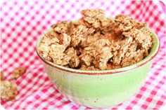 Maple Almond Granola Clusters. Adjusted somewhat to be gf and used coconut sugar .  Lovely!