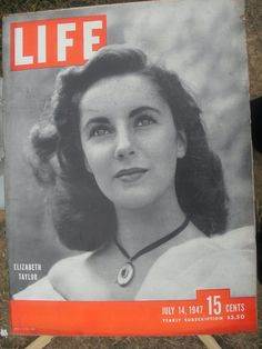 Elizabeth Taylor   Life Magazine June 14 1947 Good by AJRECORDS, $88.00