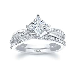 This diamond engagement ring is stunning. The channel set princess cut moissanite is captured in the split twisted ridges, while pave set diamonds accent the shoulders edge, a bright polished shank creates a stunning elegant look. Dream Engagement Rings, Princess Cut Engagement Rings, Engagement Ring Cuts, Diamond Wedding Bands, Wedding Rings, Quinceanera, Cute Rings, Just In Case, Marie
