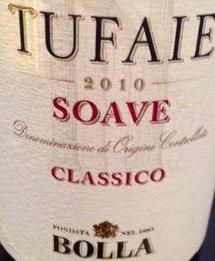 """#Cena leggera con il sinuoso e sapido Soave Sueriore @IlSoave """"Tufaie"""" 2010 di #Bolla marchio storico @GIVcalmasino"""