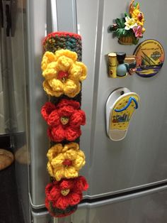 Fridge handle cover by Aamin crochet ..