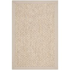 Safavieh Chunky Basketweave Marble Ivory/ Taupe Sisal Rug - Overstock™ Shopping - Great Deals on Safavieh 7x9 - 10x14 Rugs