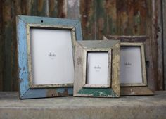 Reclaimed Wooden Photo Frames