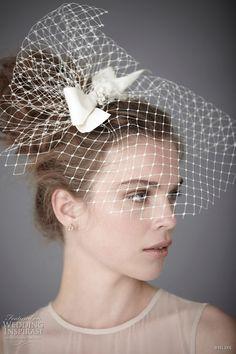 more at http://weddinginspirasi.com/2011/05/27/bhldn-bridal-hair-accessories-birdcage-blusher-veils-halo-headbands-wedding-dresses/