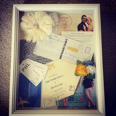 Wedding Shadow Box Idea.. find stuff from our honeymoon