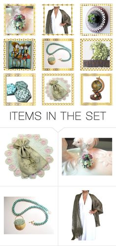 """Etsy Collage- Beautiful Gifts"" by rosa-shawls ❤ liked on Polyvore featuring art and vintage"