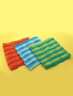 Yarnspirations.com - Lily Wavy Stripes Dishcloth - Patterns  | Yarnspirations