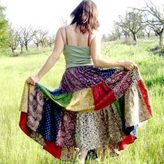 scrap skirt, wonder how this would look?