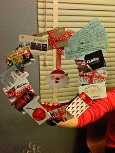 Gift Card Wreath for the teacher