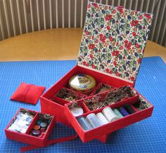 Sewing Case, Sewing Tools, Diy Box, Objects, Gift Wrapping, Kit, Crafty, Handmade, Lifehacks