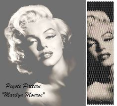 Peyote pattern for bracelet cuff Marilyn Monroe door LePCCdiMeri