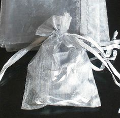 400x Solid Silvery Gray Organza Bag Pouch for Xmas Gift 12x9cm(4.5x3.5inch), $$42.00