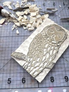 Hand carved owl stamp idea.