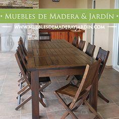 Mesa de madera maciza para tu galeria o comedor