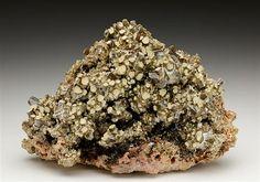 Classic specimen of Endlichite from Touissit, Morocco. Crystal Classics Minerals