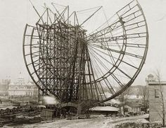 Building the very first Ferris Wheel, 1893