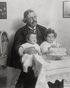 GKC with two of his Goddaughters Gk Chesterton, Daughter Of God, Writers, Couple Photos, Friends, Painting, Guy Pictures, Saints, Life
