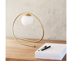 Loop Brass Table Lamp