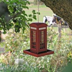Telephone Box Bird Feeder