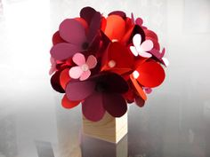 Valentines Day Bouquet Paper Flower Bouquet by lindseyelizabeth03, $55.00