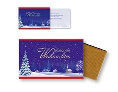 """#Schokolade """"Gesegnete #Weihnachten"""" mit #Faltkarte  #LOGO"""