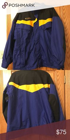 f2ef80947f8e Blue yellow and black Columbia waterproof jacket Blue yellow and black  Columbia waterproof jacket Very good condition Men s Columbia Jackets    Coats Ski   ...