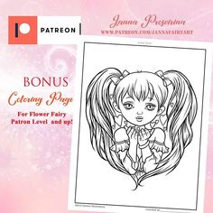 With Valentine's day around the corner I have just posted this bonus #coloring #page for my Patrons over on Patreon!  Check my Patreon here : patreon.com/jannafairyart  #adultscoloring #adult #coloringpage #coloringbook #coloringaddict #coloringtherapy Adult Coloring, Coloring Books, Coloring Pages, Fairy, Corner, Love You, Valentines, Illustrations, Flowers
