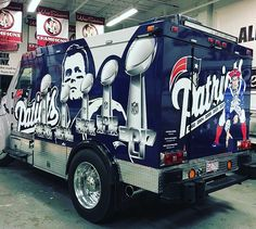 My son likes the truck. I'm more a fan of the decals. Patriots Team, New England Patriots Football, Boston Sports, Boston Red Sox, Go Pats, Football Baby, Fenway Park, Home Team