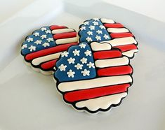 Easy fourth of July Flag cookies